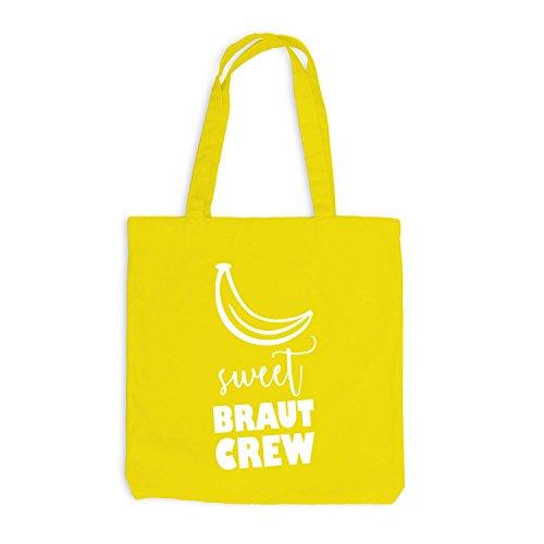 Jutebeutel - JGA Braut CREW Banana Sweet - Junggesellenabschied Gelb