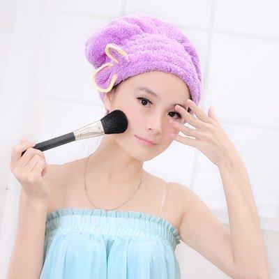 MMXXAIWWAA Hauptverdickende saugfähige Duschekappe Haartrockner schnell trocknendes Tuch mit Kapuze super saugfähiges trockenes Haar-Tuch trockenes Haar Hut, Wassermelonenrot