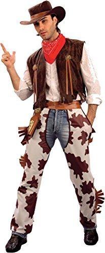 Herren Kleid Kostüm Party Up Gangster Wild West Cowboy Indiana Jones Kostüm Outfit - Multi, Chest Size (Outfit Jones Indiana)