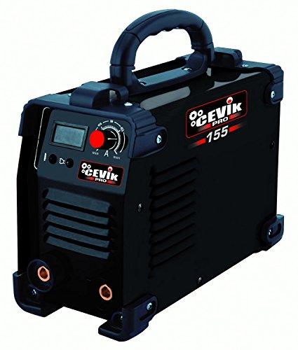 Cevik CE-PRO155 - Equipo de Soldadura 120 A. 60_% Electrodos de 1,6-3,25 mm. Con accesorios. Válido para Generador