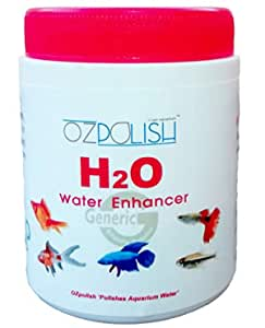 OZpolish H2O by Aquatic Habitat   Aquarium Water Conditioner with Essential Minerals and Salts   Reduce Calcium Lining on Fish Tank Wall (Dry; 180 g)
