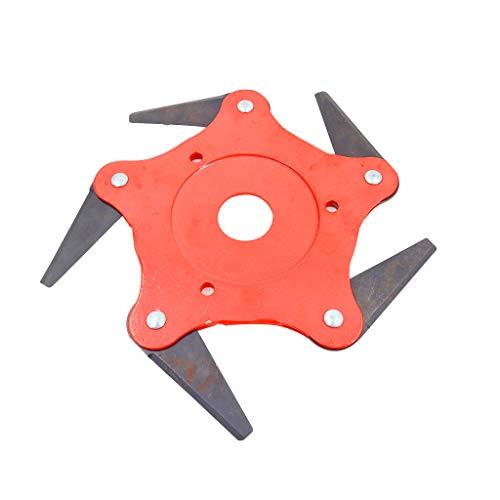 Line Trimmer Attachment (Jenor 4/5 Bürstenschneider Klinge 65 Mn Garten Rasenmäher Kopf Metall Klingen Trimmer Kopf für Rasenmäher)