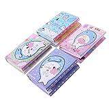 Yangfr Erinnerungsaufkleber für Schreibtischnotizen, niedliches Happy Whale, 6 faltbare Memo-Block, Haftnotizen, Notizblock, Lesezeichen, Schreibwaren