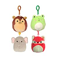 Squishmallows UK - 3.5 inch backpack clip-on x 4 - SET A (4 characters)