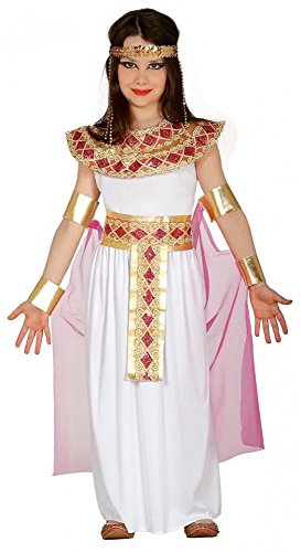 Kostüme Cleopatra Kinder (Cleopatra Kinderkostüm für Mädchen Ägypterin Kostüm Pharaonin Königin, Kindergröße:134 - 7 bis 9)