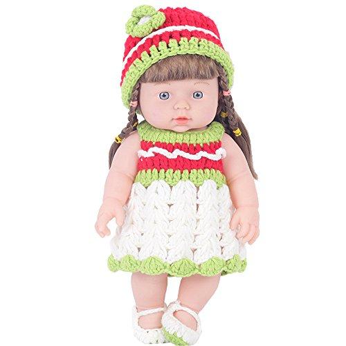 Jaysis Baby-Puppe, Geschenk für Neugeborene, weiches Vinyl, Silikon, lebensecht, Wolle, grün, Einheitsgröße