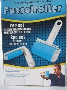 2 tlg. wieder verwendbare Fusselrolle-Satz - das perfekte Reinigungssystem für jeden Haushaltsbedarf