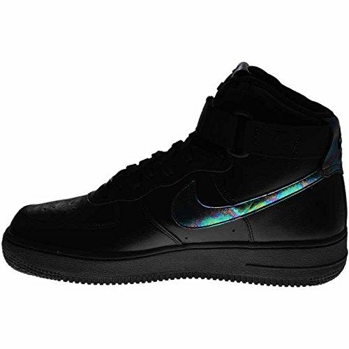 Nike Air Force, Chaussures de Sport Homme Noir (Black (noir / or métallique noir))