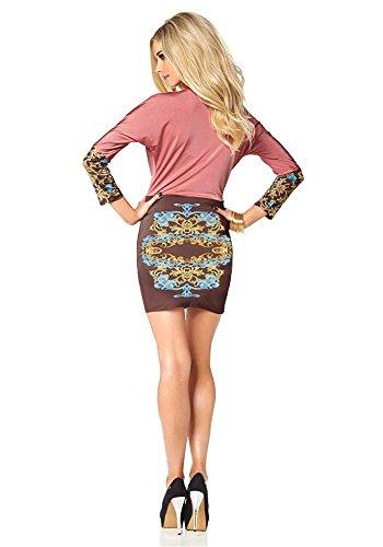 Melrose - Robe - Opaque - Femme Multicolore - rosé-braun-bunt