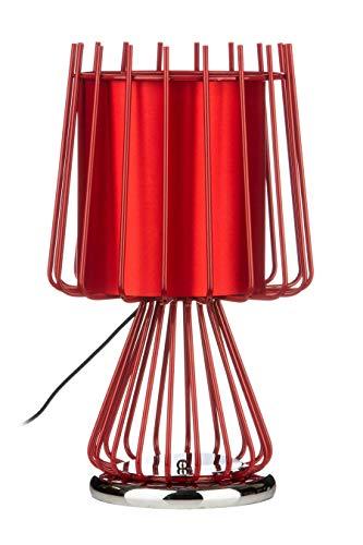 Premier prem-2501757Tischleuchte, Keramik, Rot