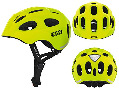 Abus Kinder- Jugendhelm Fahrradhelm Youn-I neon-Yellow 48-54 cm