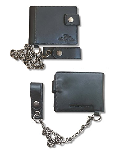OCC Orange County Choppers Wallet Biker debossed Logo & Chain Black (Wallet Chain Logo)