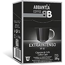 Café para Nespresso en Cápsulas Extra Intenso excepcional y aroma afrutado. 10 Capsulas compatibles nespresso, biodegradables. Cápsulas con ajuste perfecto a las cafeteras nespresso