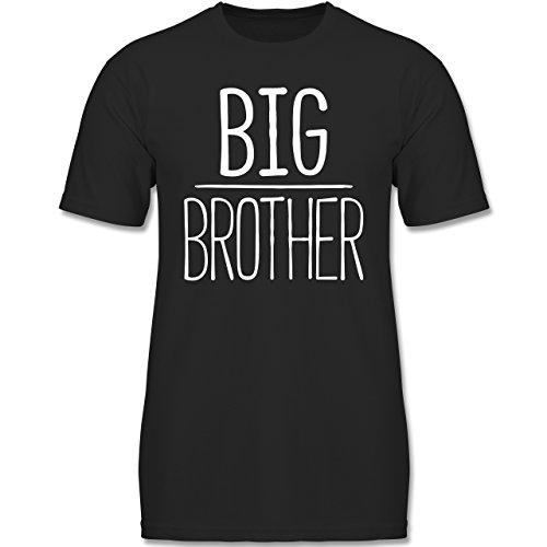 Geschwisterliebe Kind - Big Brother - 116 (5-6 Jahre) - Schwarz - F140K - Jungen T-Shirt (Bruder-t-shirts Big-brother-kleiner)