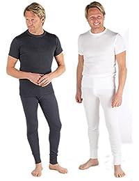 2 Couleurs de Sous-vêtement Thermique Maillots Manches Courtes et Caleçons Longs, Tailles variées
