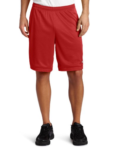 Champion Long Mesh Men's Shorts With Pockets Champion Scarlet