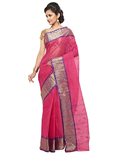 Slice Of Bengal Light Weight Broad Border Cotton Handloom Taant Tangail Saree-101001001100
