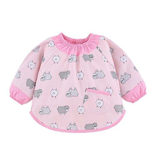 baberos-bebe-con-mangas-largas-delantales-impermeables-infantiles-bluson-de-algodon-para-pintura-y-j