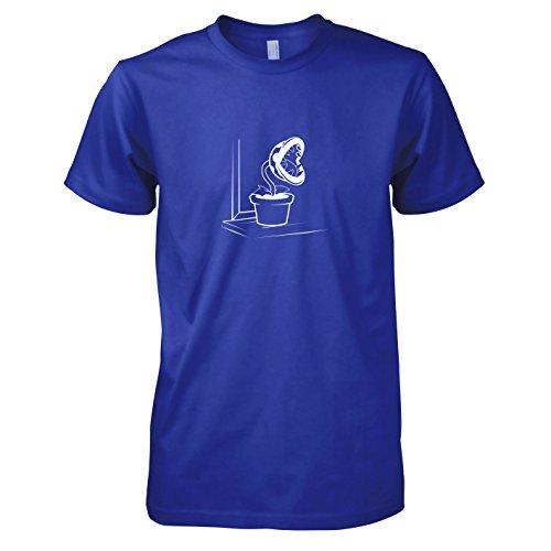 (TEXLAB - Piranha Plant - Herren T-Shirt, Größe L, marine)