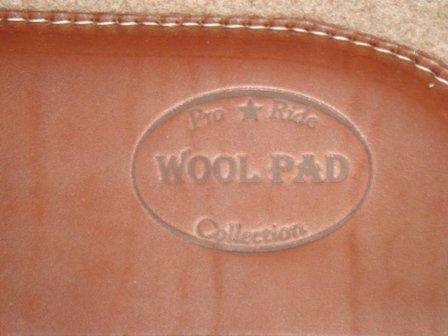 Premium Contoured Wollfilz-PAd 3/4 Inch mit hochwertigem Lederbesatz - 2