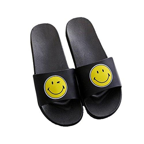 Auspicious beginning Sandali stampati carino stampati pantofole casual per gli uomini e le donne sorriso nero