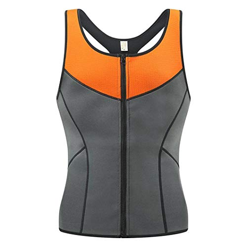 Speed Walker Kostüm - FENTINAYA Herren Sweatweste Saunaanzug Neopren Body Shaper Taillentrainer für Weight Loss Zipper Tank Top