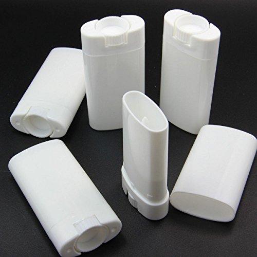 10 pcs 15 ml/Augencreme (weiß) leer Oval Lip Balm Tubes Deodorant/handgefertigte Seife Container