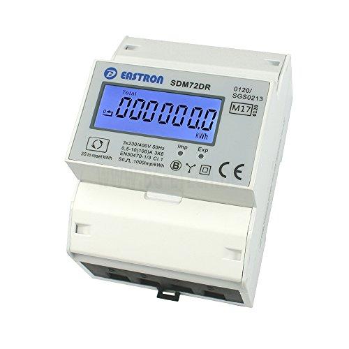 Preisvergleich Produktbild SDM72DR-MID - geeichter digitaler Drehstromzähler mit momentan Lastanzeige und Tageszählfunktion (rückstellbar)