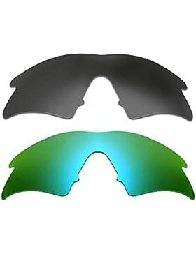 Hkuco Plus Mens Replacement Lenses For Oakley M Frame Sweep Black/24K Gold Sunglasses