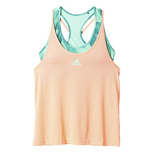 adidas Damen Oberbekleidung Club Tank Women T-Shirt, Rosa/Grün, XS