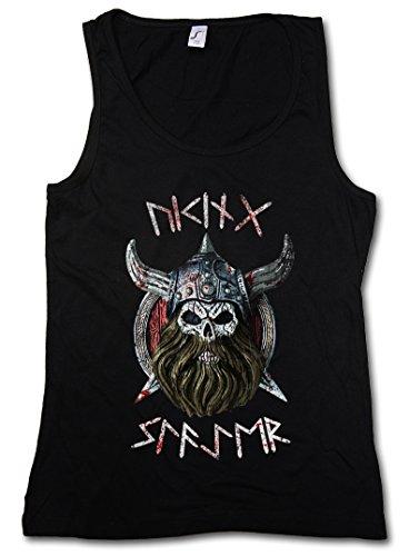 VIKING SLAYER DONNA CANOTTA TANK TOP - Warrior Viking Thor norvegese Odin Scandinave Ragnarök Loki Vikings Rune DONNA CANOTTA TANK TOP Taglie S - XL