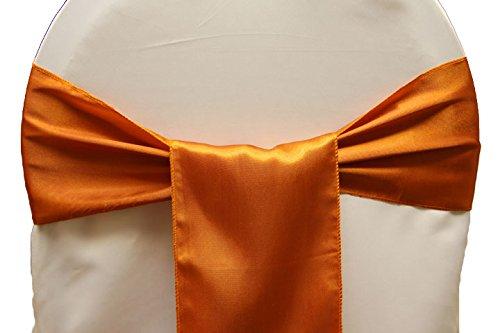 EDS 10sedia Bow Sashes, decorazione per festa di nozze banchetti-Brunt arancione