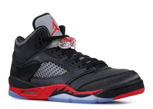 Nike Herren Air Jordan 5 Retro (gs) Fitnessschuhe Schwarz (Black/University Red 006) 38.5 EU -