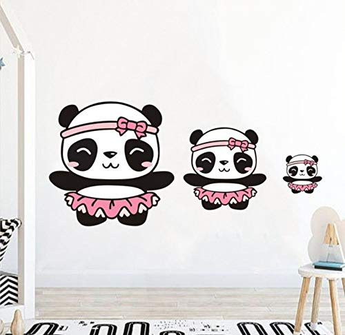 LYR123 Cartoon Tiere 3 Stücke Nette Pandas Farbe Wandaufkleber Für Kinderzimmer Kindergarten Dekoration DIY PVC Kunst Aufkleber Tapete Wohnkultur - 3 Stück Pub