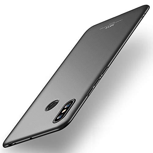Estuyoya Xiaomi Mi MAX 3 Funda, Carcasa Trasera Rígida [Ultra-Fina] Resistente Caidas y Golpes [Anti Huellas] Protección Ligera [Slim Series] - Negro