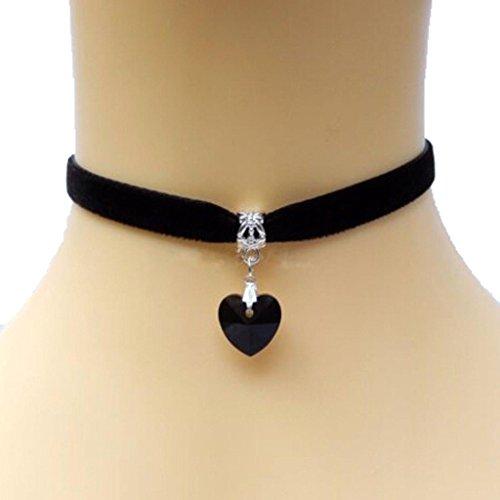 bomien-lady-girls-velvet-choker-necklace-retro-handmade-love-heart-crystal-pendantblack