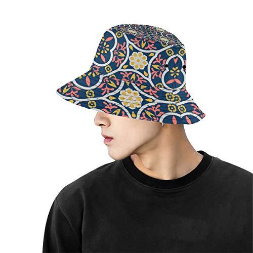 Sombrero Hombre Sombrero Antiguo Mandala Trible Verano geométrico Pesca Unisex Sombreros Solteros Cubos de Pescador Deportes al Aire Libre Sombrero de ala Grande Sombreros Mujer