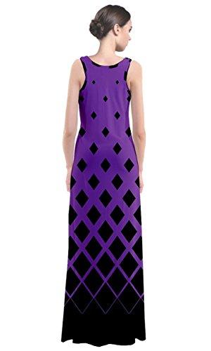 CowCow - Robe - Femme marron moka violet/noir