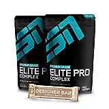 2 x 1000g. ESN Elite Pro Complex + 1 x Gratis ESN Tasty Bar 2 x Chocolate