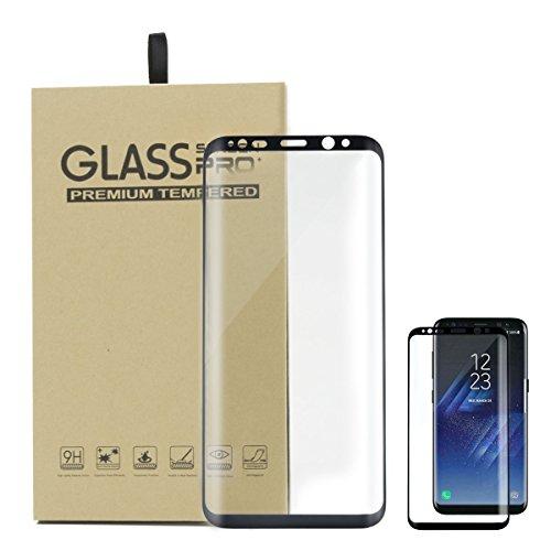 Protector De Pantalla Para Samsung Galaxy S8 Plus Vidrio Templado 3D Curvado Cristal Full Coverage Protection For Smartphone Galaxy S8+ Anti-Rasguños 9H Tempered Glass Screen Protector HD 1 Pack Negro