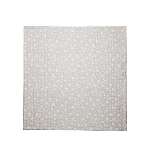 Cambrass Boutí Star - Colcha, 80 x 80 cm, color gris
