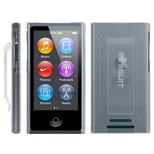MiniSuit Jazz Slim Case - mit Gürtel-Clip und Displayschutz - für iPod Nano 7 - gummiert - Transparent