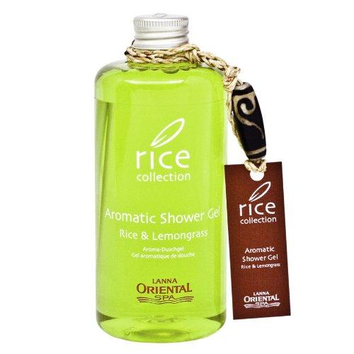 Lanna Oriental Spa Aromatic Rice & Lemongras Showergel, Duschgel mit Reisöl und Zitronengras 300ml