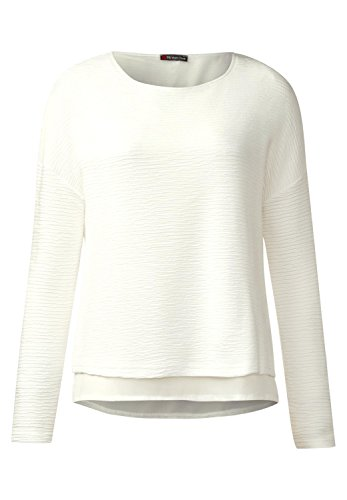 Street One Damen Lagenlook Struktur Shirt off white (weiss)