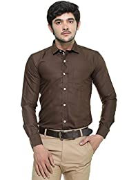 [Sponsored]Nimegh Chocolate Colored Cotton Casual Solid Shirt For Men's