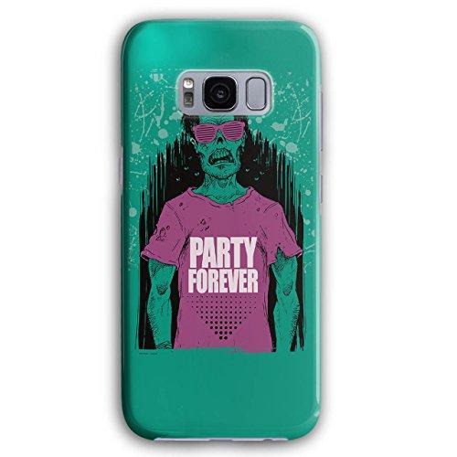 Wellcoda Party Für Immer Party Für Immer Hülle für Samsung Galaxy, Zombie Rutschfeste Hülle - Slim Fit, Schutzhülle, bequemer ()
