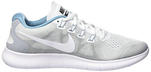 Nike Damen Wmns Free RN 2017 S Laufschuhe Grau (Wolf Grey/cerulean/black/white)