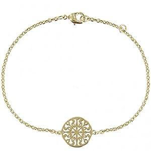 Les Poulettes Bijoux - Bracelet Arabesque Ronde Plaqué Or