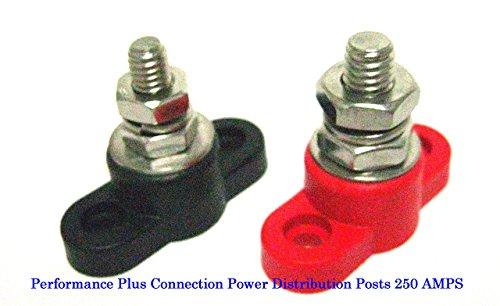 Schnelle Kabel Power Junction Block Ohrstecker schwarz und rot 250A Feed Durch -