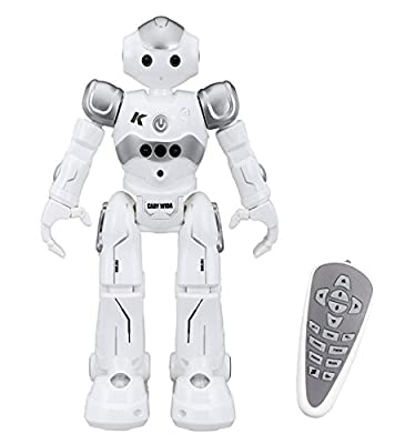 Virhuck R2 Remote Control RC Robot, Intelligent Programming Gesture Sensing Robot Kit, Dancing Singing Walking RC Toy for Children Kids